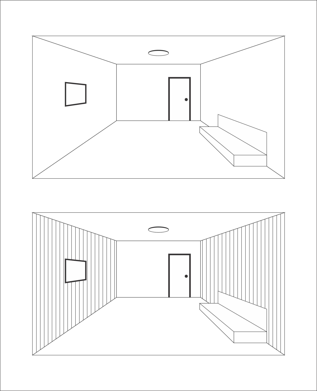 Ambientes com linahs verticalLinha