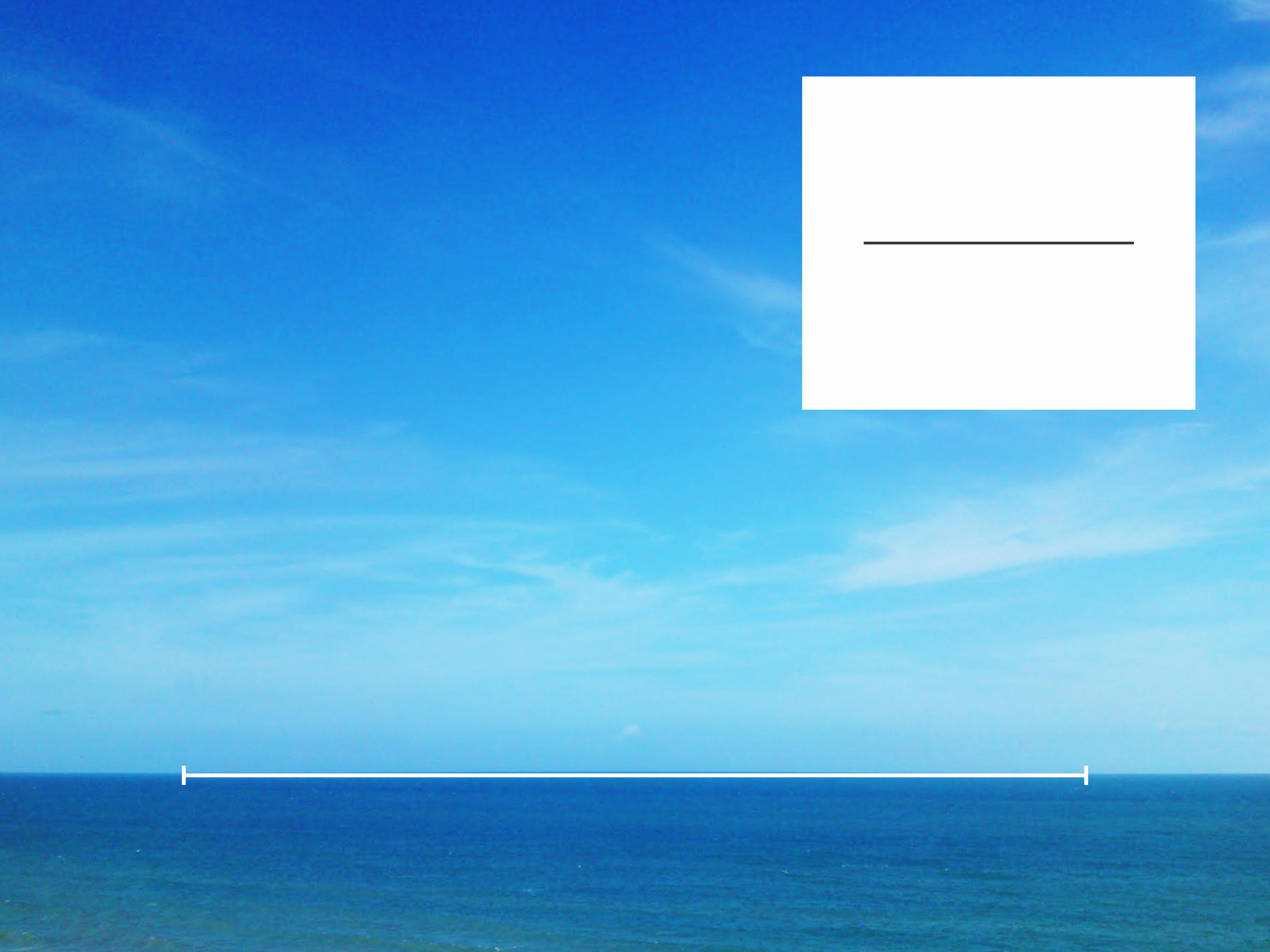 Foto com linha do orizonte