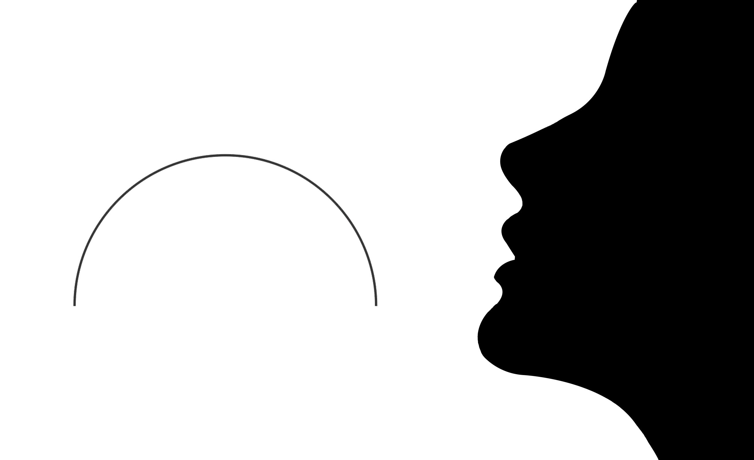 Perfil de rosto linhas suaves e femininas