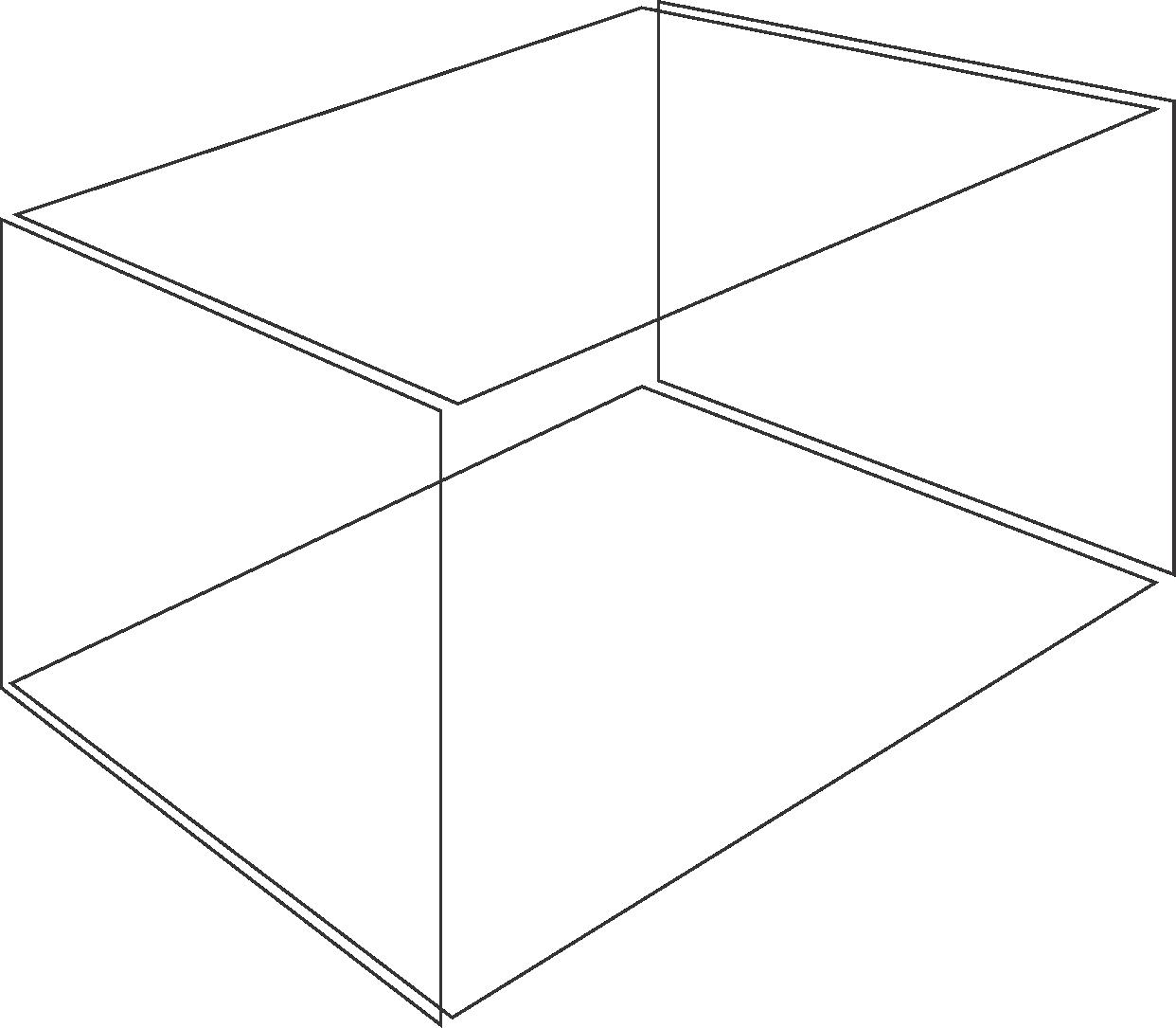Plano formando uma caixa