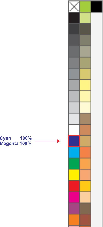 Paleta de Cores CMYK do Corel